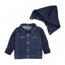 Блузон из джинсовой ткани и мольтона с капюшоном  R mini  2210070 / GGY077